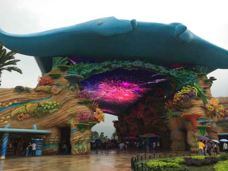 海洋用绳命在旅行~珠海长隆攻略王国一日游,附探险的青蛙抽球暴雨图片