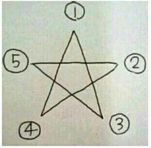 请把你画星星的笔画顺序写出来,一样的做闺蜜
