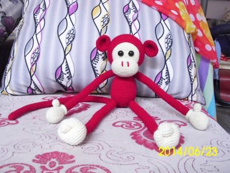 教程巧手皇后完工了《附猴子》_玩偶DIY圈闪耀钩针榴石图纸图片