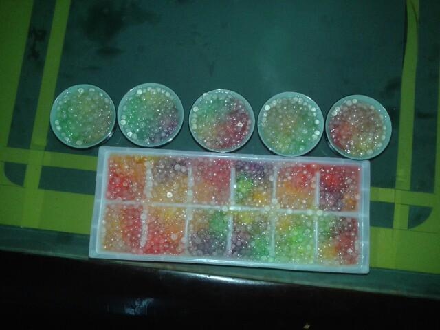 第一次学做的甜点彩虹西米冻!就地取材,倒也成