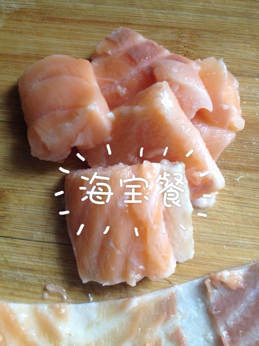 【海宝餐】晚餐凉拌荷兰豆清蒸三文鱼_宝宝营