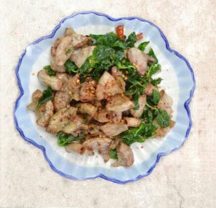 萝卜美食+来西双版纳必吃【4】本地家常菜_西酸米粉煮鸭胗爆料图片