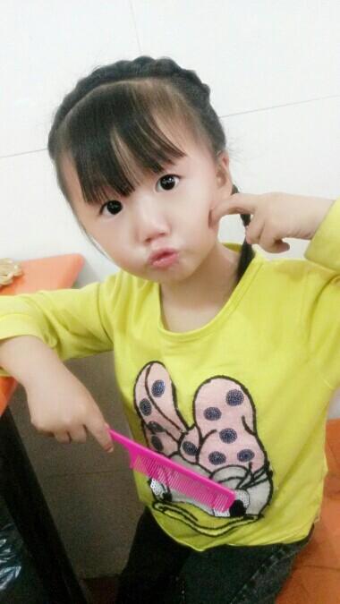 【发型编发】一岁半模具宝贝也美美哒_巧桃心头型宝宝图片