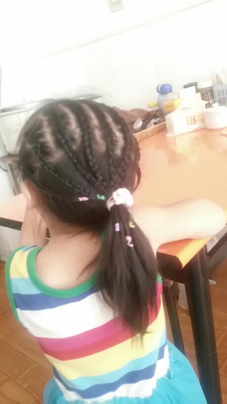 【发型编发】一岁半长发发型也美美哒_巧全v发型编发宝宝图片中宝贝图片