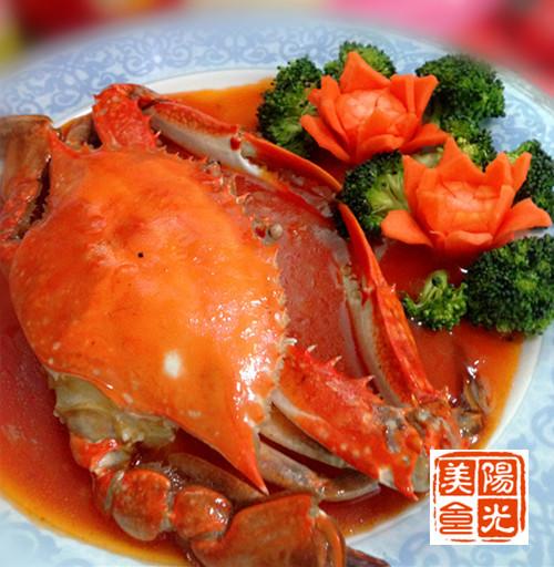 【年味】八方盛世寓意茄汁来财和谐螃蟹,春节特色美食柳州广西图片