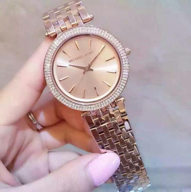 MICHAEL KORS女士时尚腕表,超薄三针进口石