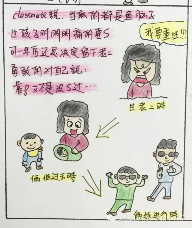 生二胎的都是女漫画【第9个原创亲子四格煤场战士漫画图片