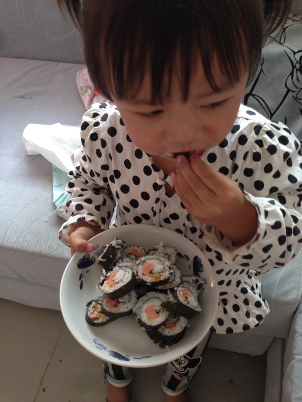 给点心做的小寿司女儿_厨房美食圈基督教美食图片