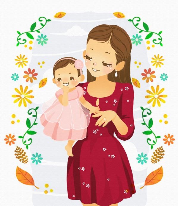 母婴插画_