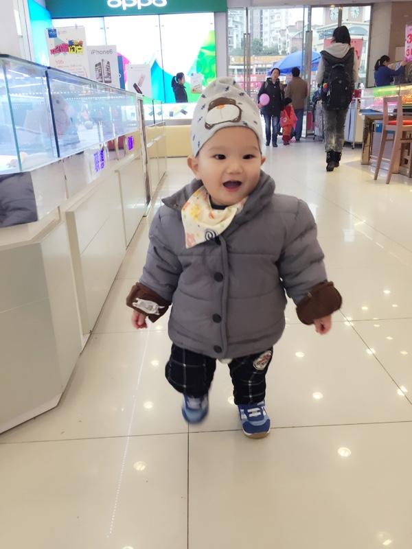 转宝宝棉服羽绒服 90码1岁半左右的宝宝_二手