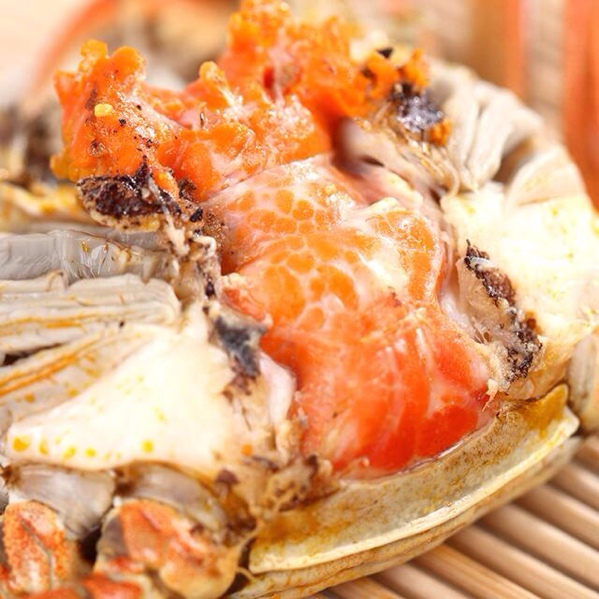 来自洪湖湖北的美味大闸蟹,10月中旬开湖,肥对美食图片