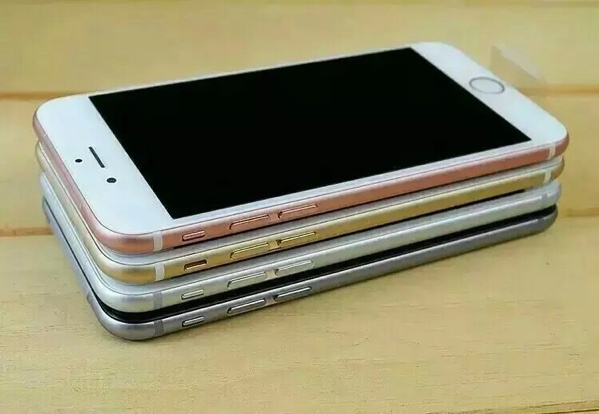 苹果6SPLUS 颜色黑白金粉 双核 四核假指纹 四