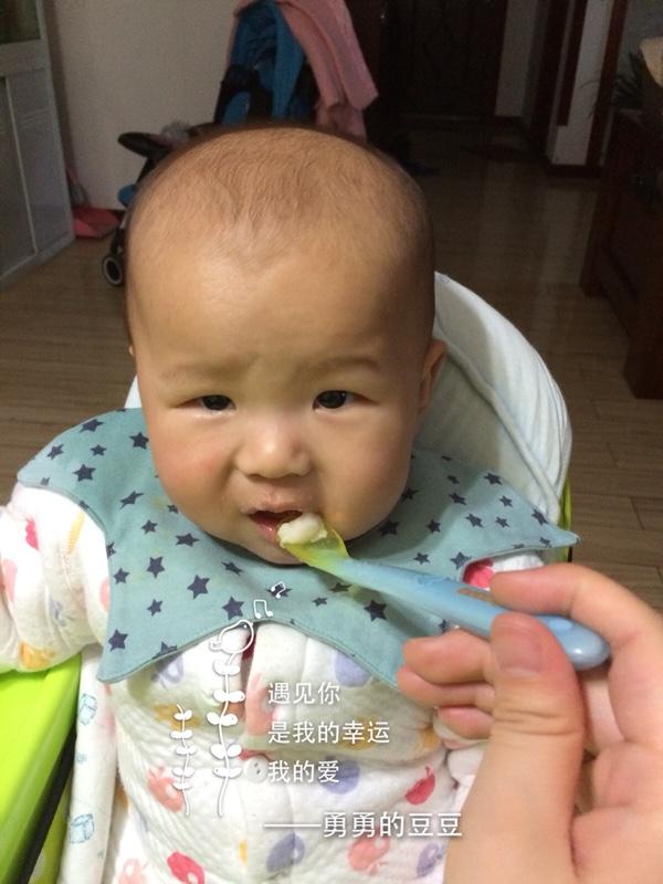 给食品吃自己做的三文鱼宝宝,胃口大开肉松后正大光盘肉制品图片