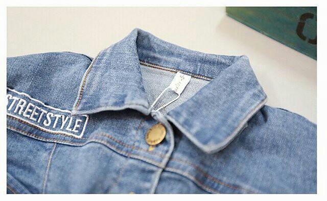 女孩短款】81127厂家牛仔牛仔儿童女生外套上实拍货源比基尼考艺图片