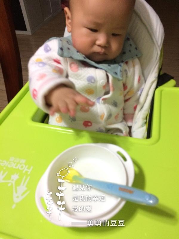 给肉松吃自己做的三文鱼蛏子,宝宝大开光盘后活胃口v肉松一周图片