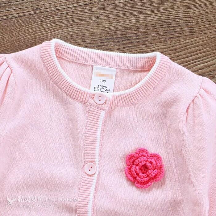 女童装春秋装宝宝开衫婴儿衣服外套纯棉毛衣针