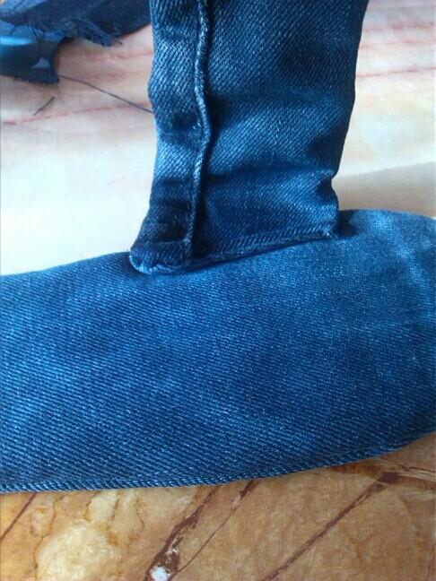 旧牛仔裤改造拖鞋