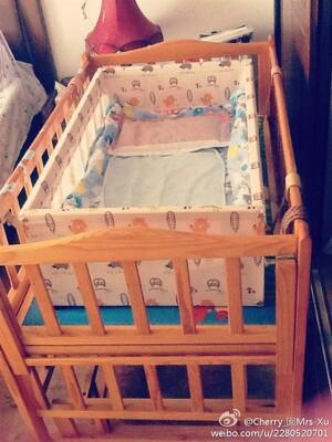 二手实木婴儿床