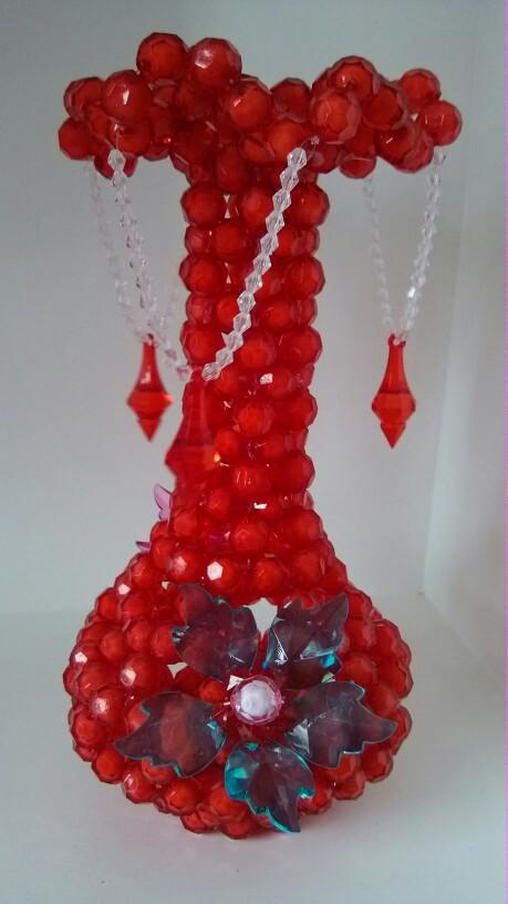 珠子编的花瓶 纯手工