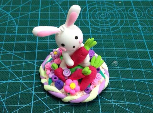 超轻粘土作品之兔子系列(带教程)