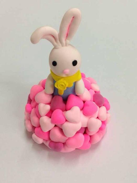 超轻粘土作品之兔子系列 带教程