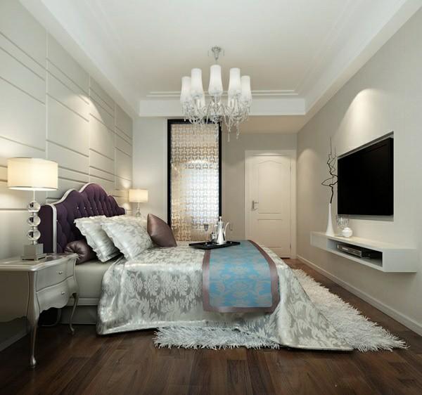 2014最新简约卧室电视机背景墙纸效果图大全