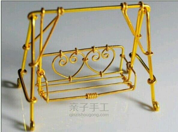 精致复古工艺品铁丝摇椅的制作图解