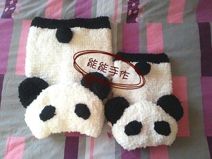 绒绒线熊猫马甲之帽子织法