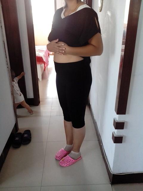 ,没瘦之前我的肚子像怀孕五六个月的,朋友们每次都会调侃我胖,真图片