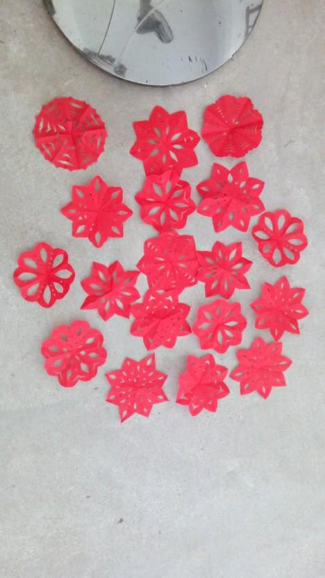 幼儿园大红花步骤图