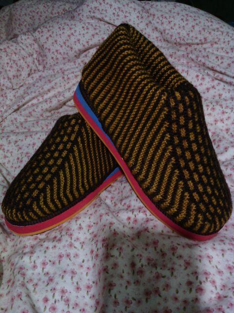 舒适保暖的毛线棉鞋(2)