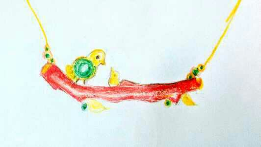 一笔一笔画,珊瑚小鸟,让冬天红火起来吧