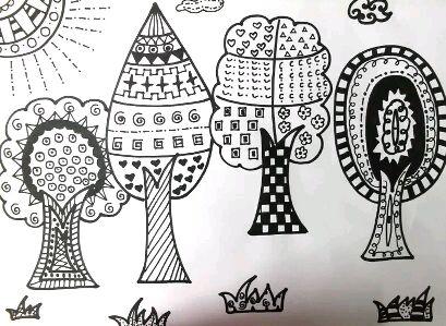 幼儿线描画