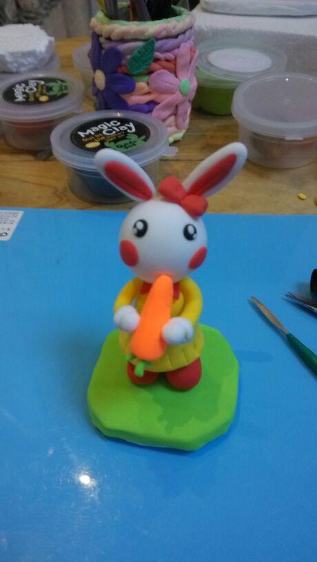 呆萌二货吃萝卜的小兔制作过程来了图片