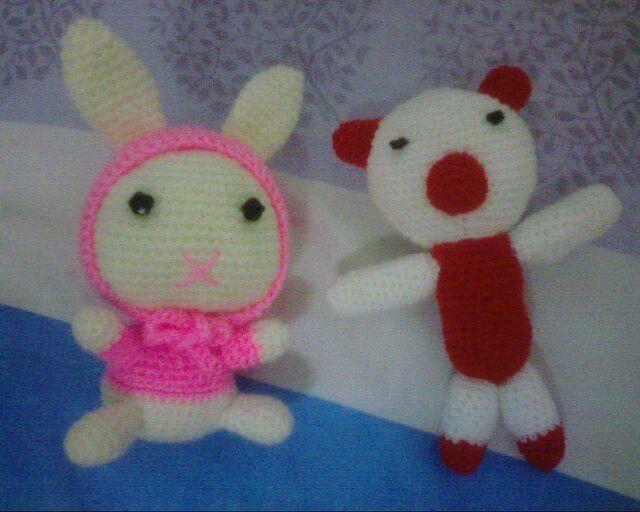 钩针编织玩偶--兔子和熊