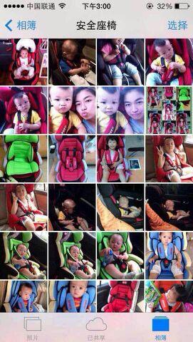 爸爸去哪儿儿童安全座椅到货
