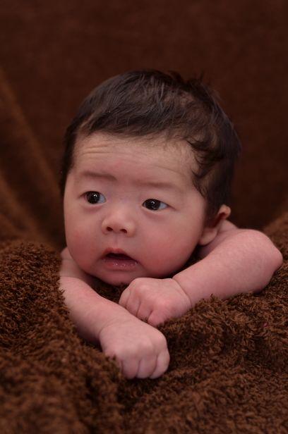 宝宝的满月照