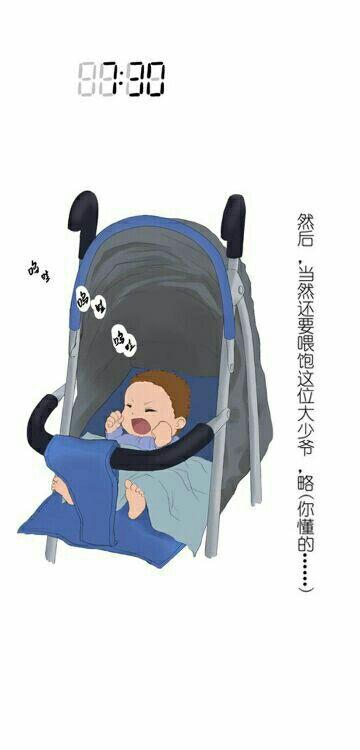 年轻宝妈自己带孩子好累的