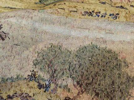 纯手工六米清明上河图十字绣成品,人物勾边细