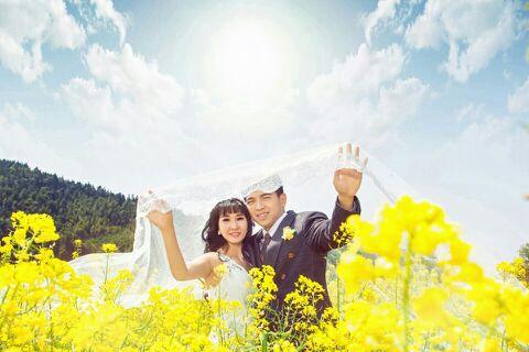 婺源油菜花,美美的婚纱照