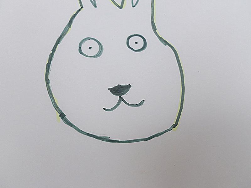 教宝宝画可爱小白兔