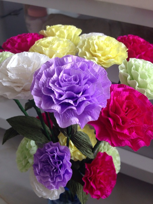 自制环保永久康乃馨,玫瑰