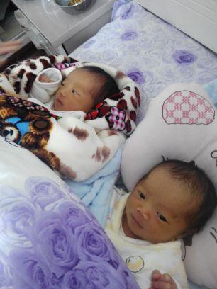 可爱的双胞胎女宝宝