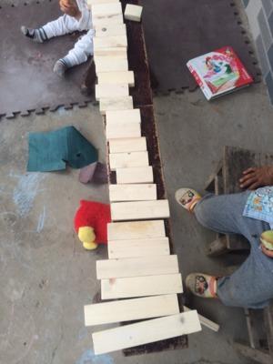 装修木板废物利用,做成积木
