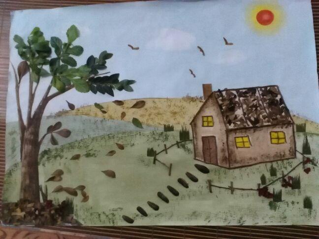画一幅保护环境的图画-和儿子的亲子环保画