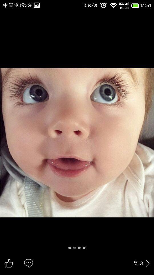 接双眼皮大眼睛长睫毛的漂亮女宝宝