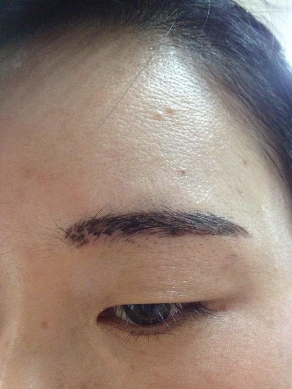 韩式半永久眉毛5天后正常吗?