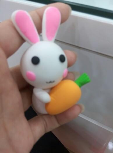 小白兔爱大萝卜(附教程)粘土篇