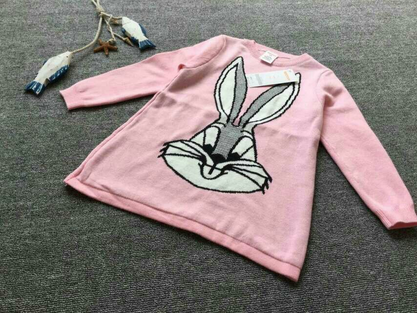 可爱兔子毛衣裙,110%棉线 加一条打底裤 直接