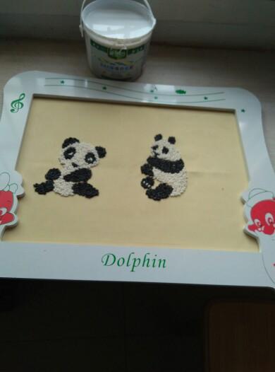 竹子简笔画步骤-拼妈的幼儿园作业来了,萌萌哒熊猫粘米画教程让你